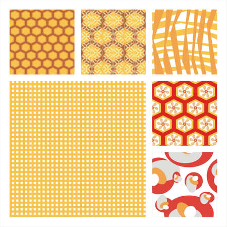 Raccolta di sei trama Pattern.Background Seamless