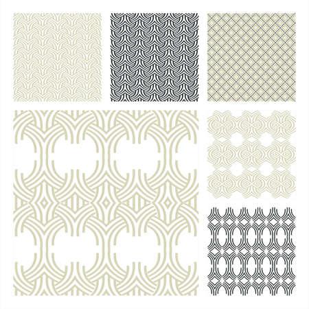 Collectie van zes Naadloze Pattern.Background textuur