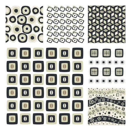 Raccolta di sei texture Pattern.Background senza soluzione di continuit�