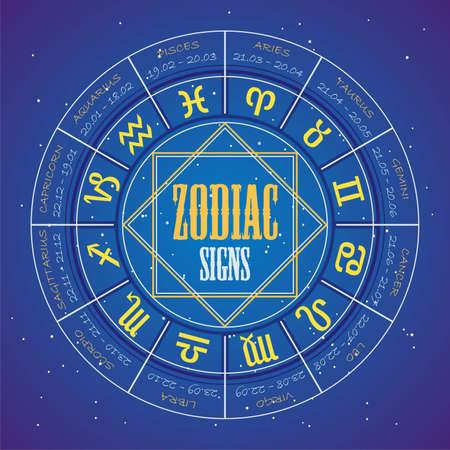segni zodiacali Vettoriali