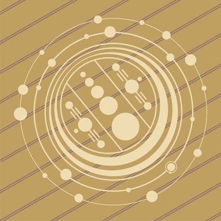 weizen ernte: Kornkreise UFO-Design in Weizen  Mais Felder