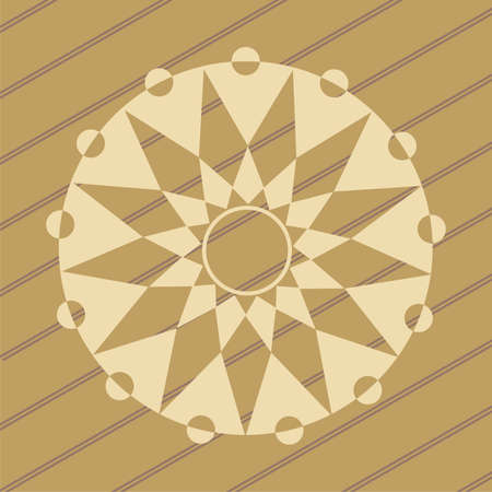 ufo crop circles design in wheat/corn fields Vector