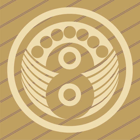 ufo crop circles design in wheatcorn fields Vector