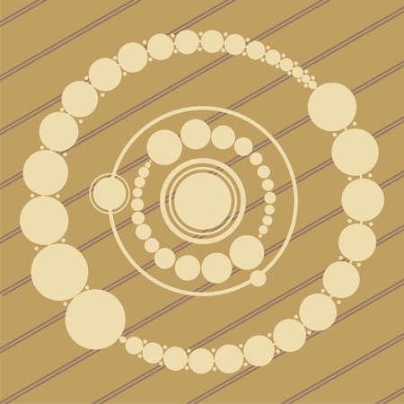 ufo progettazione crop circles nel grano  mais campi Vettoriali