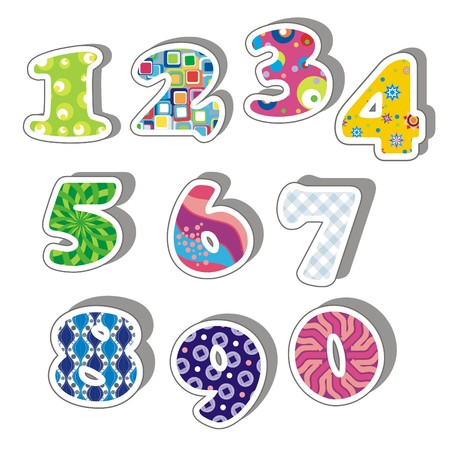 Illustration -  Colorful numbers