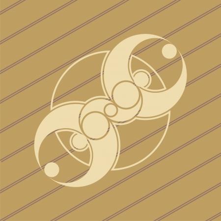 cultivo de trigo: ufo diseño círculos de las cosechas en los campos de maíz de trigo Vectores