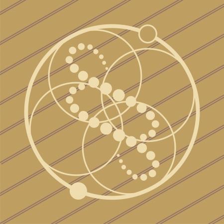 UFO crop circles progettazione in campi di grano di frumento Vettoriali