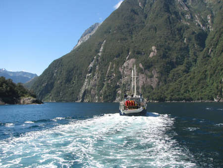 milford: Fiord Milford Sound. Nature reserve Fiordland.New Zealand.