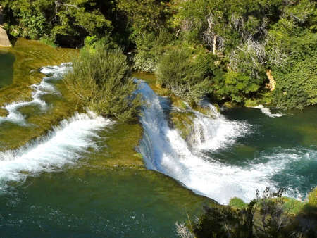 Cascading waterfalls Skradinski buk in Krka National Park. Croatia Stock Photo - 6010354