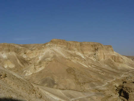 Judean Desert - a desert in the Middle East, located on the territory of Israel, on the west coast of the Dead Sea. photo