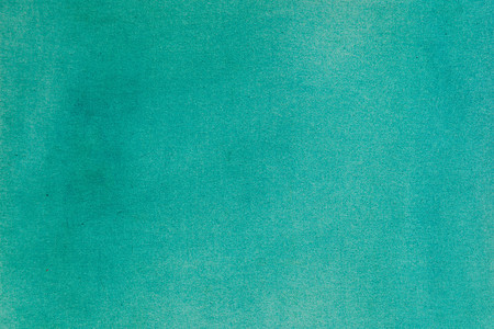Aquamarine watercolor canvas background. Evenly colored horizontal surface.