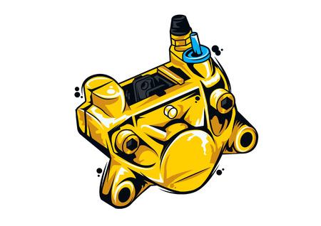 motorfiets remklauw vectorillustratie Stock Illustratie