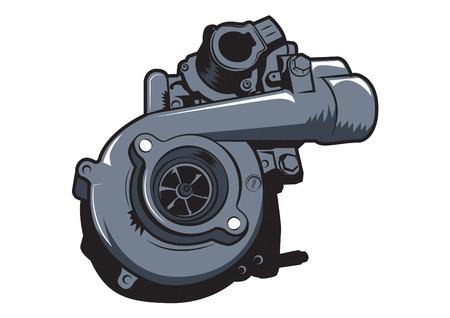 auto turbonatic vectorillustratie