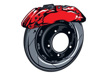 disc brake set vector illustration Illustration