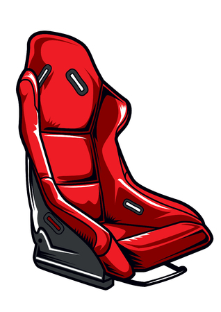 racing car seat vector illustration