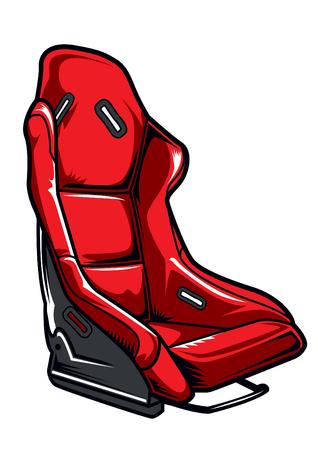 racing car seat vector illustration
