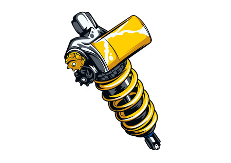 shock absorber vector illustration