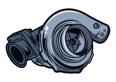 car turbonatic vector illustration Illustration