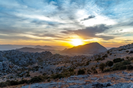 Sunset in the Torcal de Antequera photo