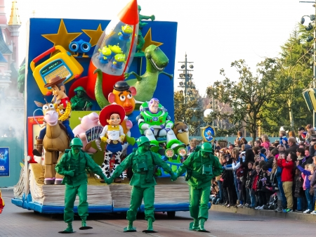 parade: Parade in Disneyland Paris Editorial