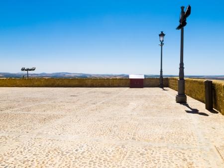 Cobbled courtyard terrace, Osuna, Seville Stock Photo - 15611633