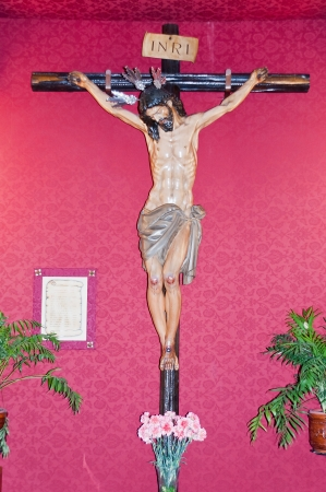 crucified Christ in the church of Socorro photo