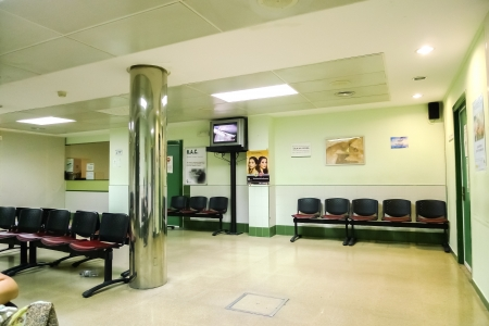nurses station: Empty nurses station in a hospital