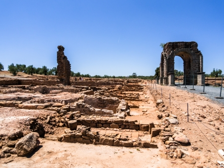 historica: ancient roman city of caparra in caceres extremadura spain