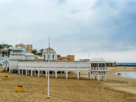 Caleta beach in Cadiz, winter day Stock Photo - 15951007