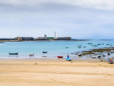 Caleta beach in Cadiz, winter day Stock Photo - 15978521