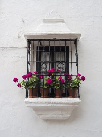 Balcón tradicional andaluza de Ronda Foto de archivo - 16111748