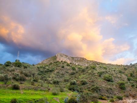 anton: Mountain of San Anton in Malaga Stock Photo
