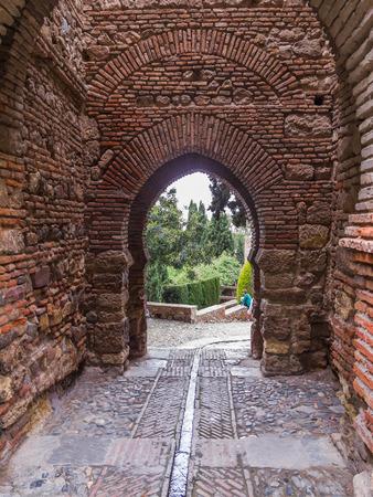 alcazaba: Alcazaba Malaga Stock Photo