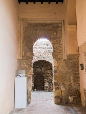 pila: Moorish arches in the Alcazaba of Malaga