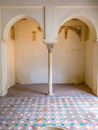 alcazaba: Moorish arches in the Alcazaba of Malaga