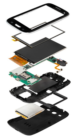 dismounted: disassembled smartphone