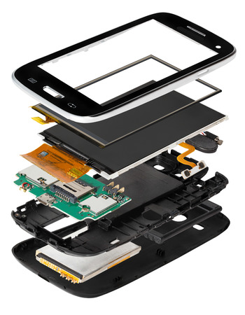 assembled: disassembled smartphone