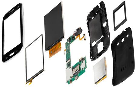disassembled: disassembled smartphone