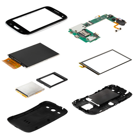 disassembled smartphone