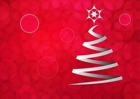 christmas motif: Red Christmas motif Illustration