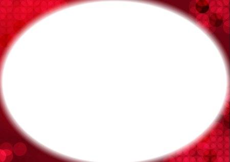 background motif: White oval background motif