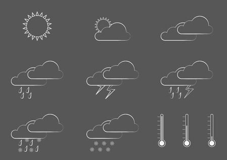 Infographic With Symbols For Weather Forecast Consist Of Simple
