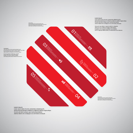 octagon: Illustration infographic template with shape of octagon