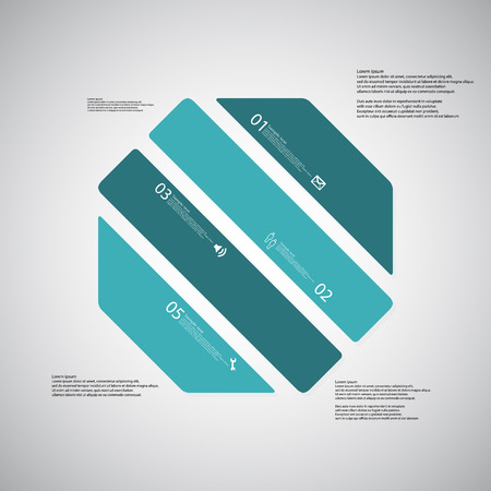 octagon: Illustration infographic template with shape of octagon.