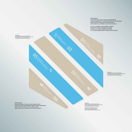 Illustration Infografik-Vorlage Mit Form Des Sechsecks. Hexagonale ...