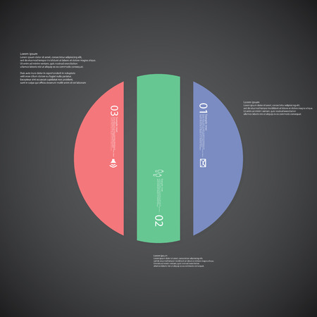 circle shape: Illustration infographic template with shape of circle.
