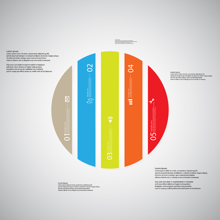 circle shape: Illustration infographic template with shape of circle