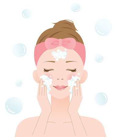 facial cleansing: face wash