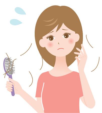 hair loss Vectores