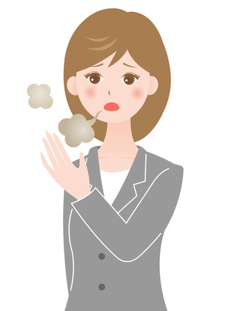 annoyance: mouth odor woman